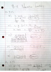 Homework, Variation Functions
