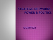 Weekend 3.1  Networks, power and politics