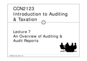 CCN2123_lect 7_Overview and audit report