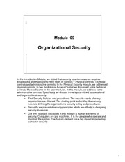 CSCI 650 - Module09-Organizational Security - Lecture Material