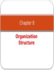Chapter 8 Organization Structure
