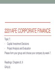 Topic 7 - Capital Investment Decision & Project Analysis and Evaluation.pdf