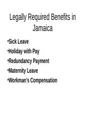 Wk_10_Legally_Required_Benefits_in_Jamaica.ppt