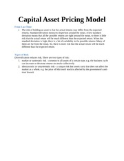 Capital Asset Pricing Mode1