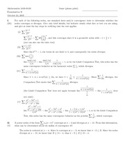 Exam B Solutions on Honors Calculus