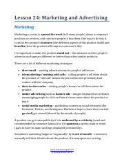 7.2 Lesson 24 - Marketing and Advertising.pdf.pdf