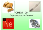 lecture 3 - organization of the elements