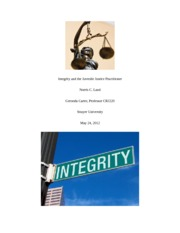 Integrity and the Juvenile Justice Practitioner