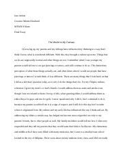 Final Essay: Creative Minds