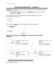 Engineering Mechanics - Chapter 2