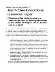 Health Care Educational Resoures Paper--Team B--Week Four (1) (1)