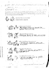 spanish homework; Worksheet Chapter two