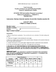 ADMS 3585 - Summer 2014 - VERY FINAL - VERSION A - Solution - student