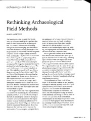 Lightfoot 2006 - Re-thinking archaeological field methods