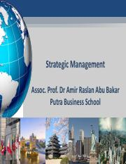 Strategic Management Dr Amir Raslan Abu Bakar