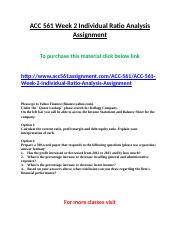 ACC 561 Week 2 Individual Ratio Analysis Assignment.doc