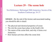 29 Ozone Hole lecture