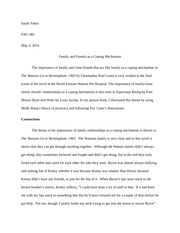 Family and Friends- Midterm Paper