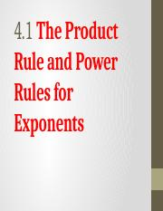 4.1 The Product Rule Power Rules for Exponents.pptx