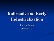 HIS113-7 Railways and Early Industry