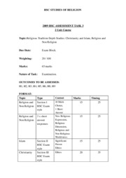 Assessment Outline MidYear Exam