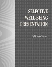 Selective well-being Presentation