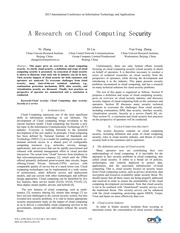 A Research on Cloud Computing Security