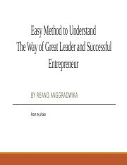 Easy Method to Understand The Way of Great Leader and Successful Entrepreneur.pptx