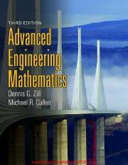 Advanced Engineering Mathematics Zill Pdf