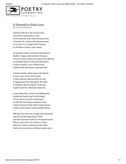 A Farewell to False Love by Sir Walter Ralegh _ The Poetry Foundation