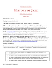 Spring 2013MUH4016All sectionsJazz History Online