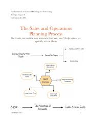 Fundamentals of Demand Planning and Forecasting -Chapter 14