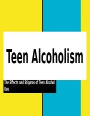 Sociology- Teen Drinking