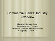 Commercial Banks-Industry Overview- From SC3-Chapters 11&13-SP2012(2)