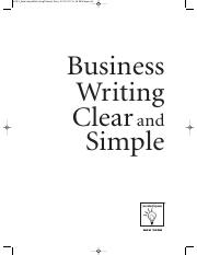 Business Writing Clear and Simple.pdf