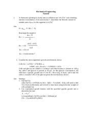 BIOCHEMICAL ENGINEERING - TUTORIAL SOLUTION.DOC