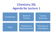 Chem 20L Lecture 1 Notes