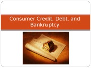FCS 226 Chapter 11 Credit, Debt, and Bankruptcy