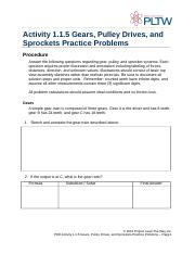 poe activity 115 gears pulley drives and sprockets practice problems rh coursehero com