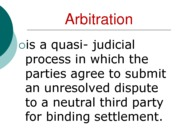 Arbitration (Assignment)