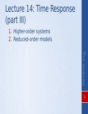Lecture Higher order sys _ Reduced order models