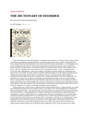 Dictionary of Disorders.article for Abn Psych by Alix Spiegel_1.WORD.doc