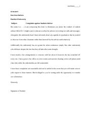 complaint letter against adviser