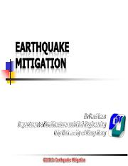 GE1313 Week 06 Earthquake mitigation