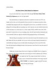 Midterm Review Music: The Deluxe Delany Violin Method (For Beginners)