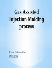 Gas Assisted Injection Molding process.pptx
