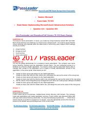 2017 PassLeader 70-533 Dumps with VCE and PDF (Question 121 - Question 150)