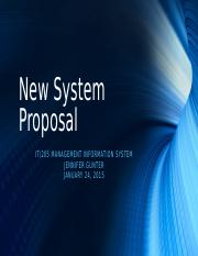 New System Proposal Presentation