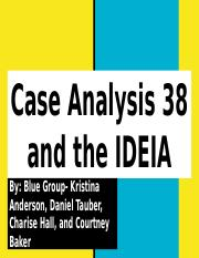 Case Analysis 38 and the IDEA.pptx