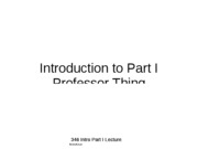 346 Intro Part I Lecture Notes